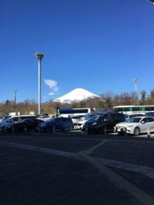 足柄SAの富士山