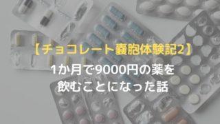 【チョコレート嚢胞】1か月で9000円の薬を飲むことになった話